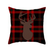 CX-New 17.7In Double-Sided Decorative Christmas Theme Checked Throw Pillow Case Red  Plaid Cushion Cover For Sofa Car Home