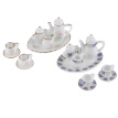 8Pcs 1:12 Dollhouse Miniature Porcelain Tea Cup Plate set Dollhouse Kitchen Toy