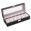 Leather Watch Box Waterproof Watch Organizer Storage Holder for Watch Jewelry Bracelet Display Case