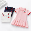 Summer Casual Baby Girls Clothes Dress Cherry Print Short Sleeve Dress Kids Toddler Pageant Dresses
