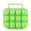 Egg Case Plastic 12 Grids Portable Camping Picnic Barbecue Outdoor Kitchen Egg Box Convenient