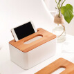 Home Kitchen Wooden Plastic Tissue Box Solid Wood Napkin Holder Case Simple Stylish 2018 New