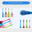 Mzxtby Children Electric Toothbrush Cartoon Pattern Double-sided Tooth Brush Electric Teeth Brush For Kids with 2 Replacement Head