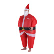 Decdeal Funny Christmas Inflatable Santa Claus Costume Jumpsuit Air Fan Operated Blow Up Xmas Suit Christmas Party Fancy Dress Inf