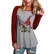 Lovaru Women's Christmas Santa Claus Printed T-shirt