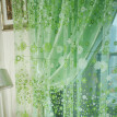 Home decorations Flower Sheer Curtain Tulle Window Treatment Voile Drape Valance 1 Panel Fabric