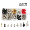 228pcs Personal Computer PC Screws Standoffs Set Assortment Kit for Hard Drive Computer Case Motherboard Fan Power Graphics