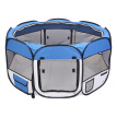"HOBBYZOO 57"" Portable Foldable 600D Oxford Cloth & Mesh Pet Playpen Fence with Eight Panels Blue"