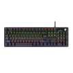 LANGTU G100 Mechanical Game Keyboard, 6 Kinds Of Light Effects USB Wired Keyboard Backlit RGB LED, 104 Keys Mechanical Cushioned