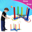 Hoop Ring Toss Plastic Ring Toss Quoits Garden Game Pool Toy Outdoor Fun Set NEW