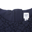 GAP flagship store girls lace trumpet sleeves round neck dress 395658 navy blue S