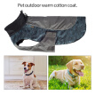Dog Winter Jacket Warm Puppy Coat Waterproof Adjustable Dog Apparel Comfortable Pet Clothes, Blue Camouflage 2XL