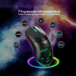 Gaming Mouse USB Wired 6400DPI Honeycomb LED Backlight Computer Mouse Desktop Accessory, Black