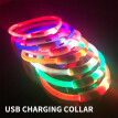 NeillieN USB Charged Light-emitting Necklace, Night-light Dog Necklace, Teddy Golden-haired Dog Necklace, Applicable LED  collar
