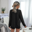 Women Solid Color Sets 2020 New Loose Casual Comfortable Home Wear Suit Fashion O Neck T-shirt And Shorts 2 Pcs Suits