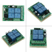 433Mhz DC 12V 4CH Universal Relay Wireless RF Remote Control Switch Receiver Module and 5PCS 4 Key RF 433 Mhz Transmitter Fixed Co