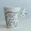 Water Milk Mug Coffee Cup Creative Ceramic Personality  Three-Dimensional Animal Cup