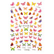 12 Sheets Butterfly Nail Sticker Waterproof Cute Nail Decal Nail Art Decoration