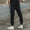AK Men's Wear (AKSERIES) Light Vintage Side Slit Text Print Knit Jogging Pants 1952221 Black M
