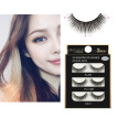 3 Pairs 3D Long False Eyelashes Makeup Natural Fake Thick Black Eye Lashes