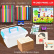 Children Drawing Toys 24/36/60Pcs Kids DIY Handmade Wooden Painting Board Template Stencils Graffiti Toy