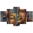 Quintuplet Unframed Modern Style Buddha Print Oil Painting Canvas Wall Art Picture Painting Home Decoration