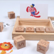 Coerni Wooden English Spelling Alphabet Letter Game Early Learning Educational Toy Kids