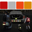 10Pcs 5X5cm Safety Reflective Warning Strip Tape Car Bumper Reflective Strips Secure Reflector Stickers Decals Car Styling