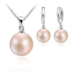 New Pearl Jewelry Sets Sterling Silver Necklace Natural Pearl Hoop Earrings Woman Wedding Jewelry Sets