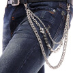 New Fashion Cross Pendant Gothic Rock Hip Hop Punk Metal Belt Waist Chain Men Trousers Chains Street Dance Accessories