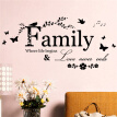 AOWA Family Letter Quote Removable Vinyl Decal Art Mural Home Decor Wall Stickers