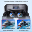 J20 3D VR Glasses Virtual Reality Glasses for 4.7- 6.7 Smart Phone iPhone Android Games Stereo with Headset Controllers 1