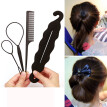 4pcs Ponytail Creator Styling Tools Pony Tail Clip Hair Braid Maker Styling Tool