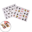 48X Nail Decal Transfer Manicure Nail Art Halloween Skull Sticker DIY Decoration