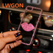 Bling Daimond Rose Red Pink Lip Case For Xiaomi Redmi 6A