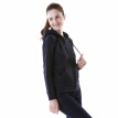 J.ZAO ladies sweater thick brushed sweater hooded zipper sweater navy blue M code
