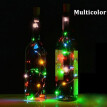 Wine Bottle Lights with Cork Fairy String Light 20 LEDs DIY Party Solar Powered Halloween Christmas Wedding Beauty Decoration