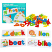 Baby Toys English Alphabet Spelling Game Wooden Card Board Learning Early Education Toy Kids Gifts