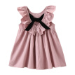 Kids Summer 2017 New Princess Style Girls Dress Fashion Fly Sleeve Baby Girls Bow Dress Girl Clothing For Children Cute Dresses