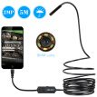 OWSOO  2.0 Megapixels HD 6 LEDS 8MM 720P Endoscope IP67 Waterproof Inspection Borescope USB Wire Snake Tube Camera 6LEDS for OTG C