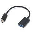 USB-C 3.1 Type C Male to USB 3.0 Type A Female OTG Adapter Converter Cable Black