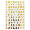 7 Sheets Nail Decal Vintage Letter Nail Sticker Nail Art with Nail Tweezer