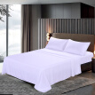 Htovila 4-Piece Bed Sheet Set Soft Brushed Microfiber Bedding Set Flat Sheet + Fitted Sheet + 2pcs Pillowcase--Queen Size + White