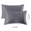 Pillow Case Breathable Pillow Cover Fabric Head Cushion Cover Bed Solid Color Pillowcase, Grey