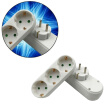3-way Ceramic Conversion Socket Adapter Multi-plug German Plug AC 250V/16A
