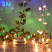 2M 20LED Fake Flower String Fairy Lights Christmas Tree Wedding Party Decor