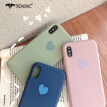 TRONSNIC Love Heart Phone Case for iPhone 7 8 Plus Blue Matte Case Green Pink Luxury Love Cover Capa