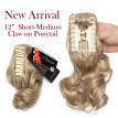 Long Short Claw Ponytail Hair Extension One Piece Cute Clip in on Ponytail Jaw Claw braiding Drawstring Synthetic Straight Curly