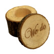 Vintage Wooden Printed Chic Rustic Wedding Ring Bearer Custom Engagement valentine's Day Gifts Ceremony Rings Holder