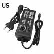 TureClos 3-12V 5A Adjustable Power Adapter AC to DC Variable Voltage Power Supply with Cable, US Plug